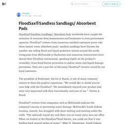 FloodSax®Sandless Sandbags/ Absorbent Pads