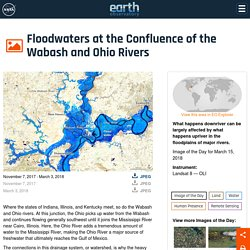 Floodwaters at the Confluence of the Wabash and Ohio Rivers