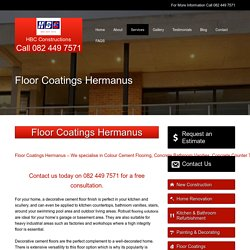 Floor Coatings Hermanus
