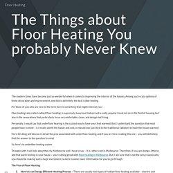 Floor Heating
