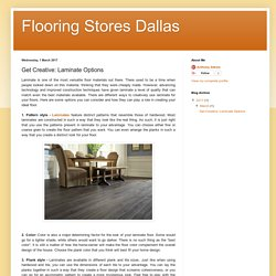 Flooring Stores Dallas: Get Creative: Laminate Options