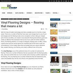 Vinyl Flooring Designs Ideas - Latest Vinyl Flooring, Designs and Pricing
