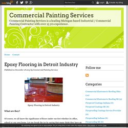 Epoxy Flooring in Detroit Industry