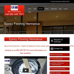 Epoxy Flooring Hermanus