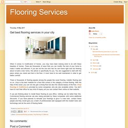 Get best flooring services in your city
