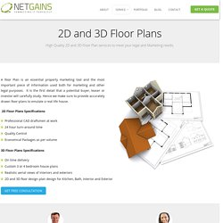 Best Quality 2D and 3D Floor Plans From Netgains India