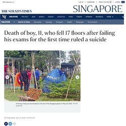 Death of boy, 11, who fell 17 floors after failing his exams for the first time ruled a suicide, Courts & Crime News