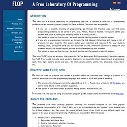 FLOP — A Free Laboratory Of Programming