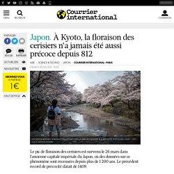 À Kyoto, la floraison des cerisiers n'a jamais été aussi précoce depuis 812