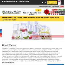 Buy Floral Waters at Best Price in Canada and USA