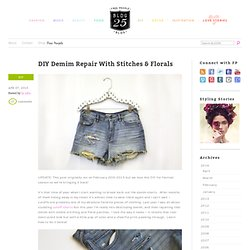 DIY Floral Denim Patches – How To Patch Your Jeans