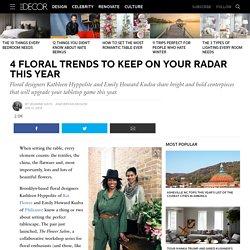 2016 Floral Trends - Winter Floral Arrangements