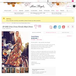 Free People FP ONE Criss Cross Florals Maxi Dress at Free People Clothing Boutique
