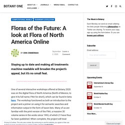 Floras of the Future: A look at Flora of North America Online