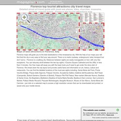 Florence maps - Top tourist attractions - Free, printable city street map