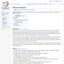 Florence Dupont, Wiki (avec liens)