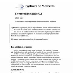 Florence NIGHTINGALE (1820 - 1910)