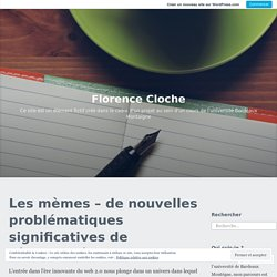 Florence Cloche – Ce site est un élément fictif créé dans le cadre d'un projet au sein d'un cours de l'université Bordeaux Montaigne