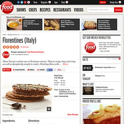Florentines (Italy) Recipe : Food Network Kitchens