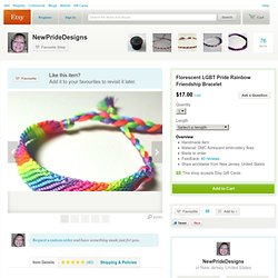 Florescent LGBT Pride Rainbow Friendship par NewPrideDesigns