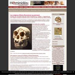 Homo floresiensis, origines communes avec Homo habilis