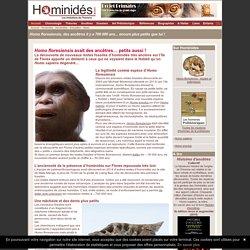 Homo floresiensis, un petit ancêtre de 700 000 ans !