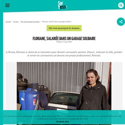 Floriane, salariéedans un garage solidaire