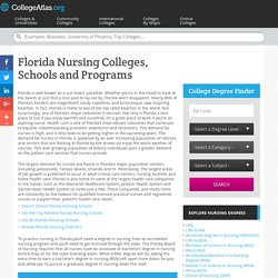 Florida Nursing Colleges, Schools and Degree Programs