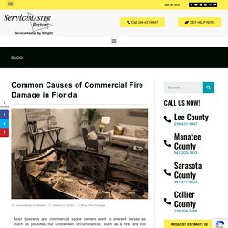 Florida Commercial Fire Damage Causes & Prevention
