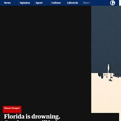 Florida is drowning. Condos are still being built. Can't humans see the writing on the wall?