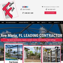 Ave Maria, Florida's Leading Pool Screen Enclosure Contractor