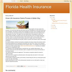 Florida Health Insurance: Know Life Insurance Claims Process in Better Way