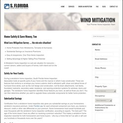 South Florida Wind Mitigation Inspection