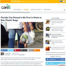 Florida City Poised To Be First In State To Ban Plastic Bags