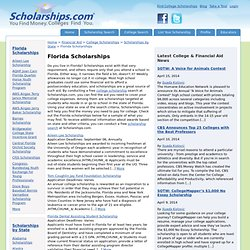 Florida Scholarships - Scholarships By State