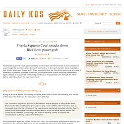 Florida Supreme Court smacks down Rick Scott power grab