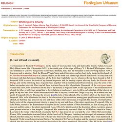 Florilegium urbanum - Religion - Whittington's Charity