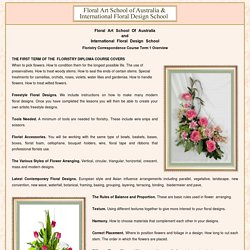 Floristry School - flower arranging, floristry distance learning