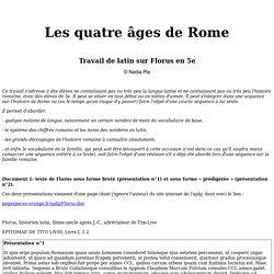 Florus - Les 4 âges de Rome