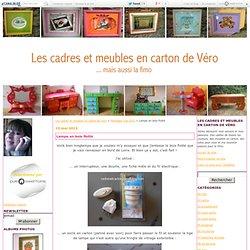Lampe en bois flotté - Les cadres et meubles en carton de Véro
