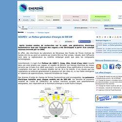 SEAREV : un flotteur générateur d'énergie de 500 kW > Vagues