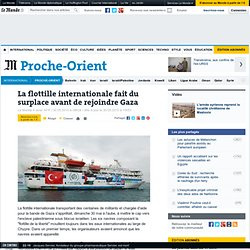 La flottille internationale fait du surplace avant de rejoindre