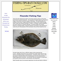 Flounder fishing tips to improve your seasonal catch.