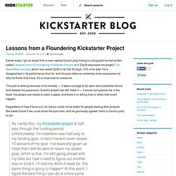Lessons from a Floundering Kickstarter Project » The Kickstarter Blog