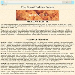 Rye Flour Sourdough Starter Recipe