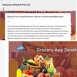 Flourish Your Grocery Business- Opt for a Grocery App Right Away!