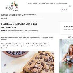 Flourless Chickpea Banana Bread (Gluten-Free)