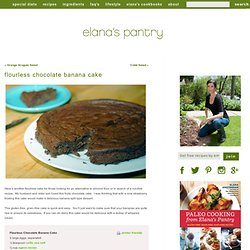 Gluten Free Flourless Chocolate Banana Cake Recipe