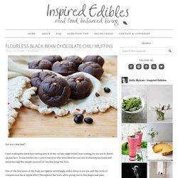 Flourless Black Bean Chocolate Chili Muffins