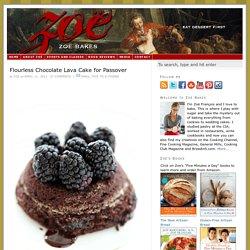 Flourless Chocolate Lava Cake for Passover